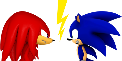 Knux Vs. Sonic by SantaJack8