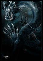 Blue dragon by AngELofREbellion