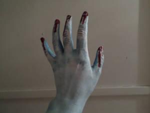 Frozen zombie hand