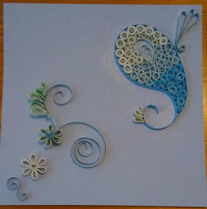 Blue Quilling WIP