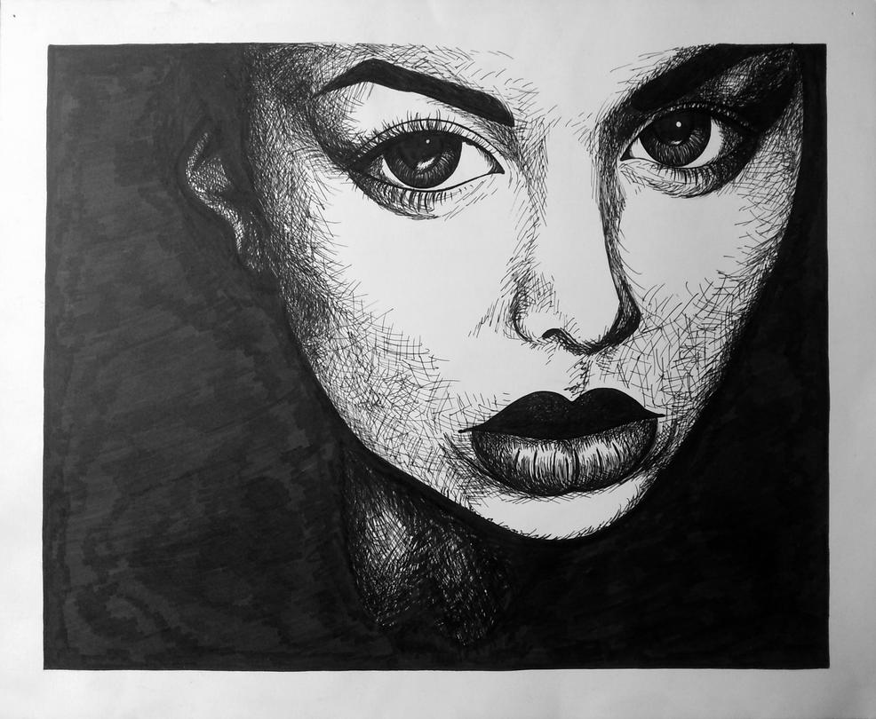 D Line Drawings Value : Beautiful lips value drawing by cronaj on deviantart
