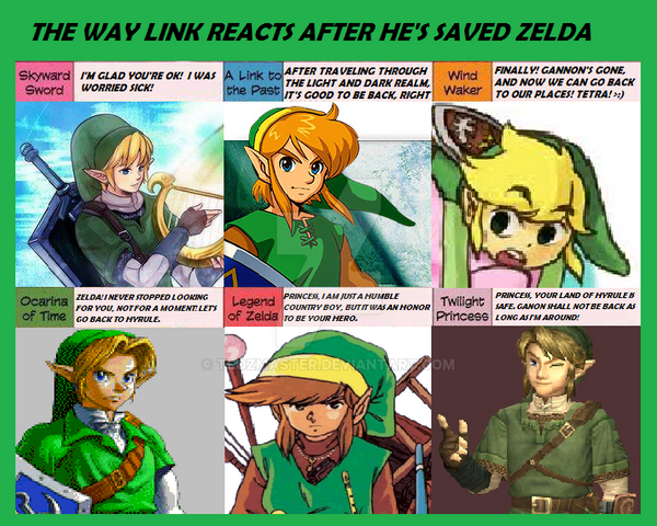 How Link Reacts After Saving Zelda by TLOZMaster on DeviantArt Zelda In Response To Being Told