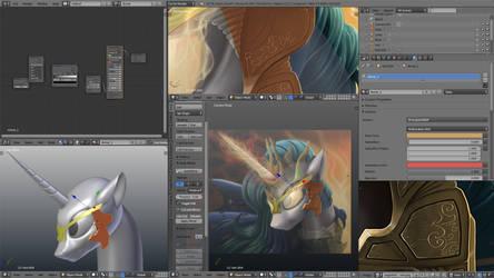 Angerlestia WIP 3D remake by Fluffyrescent