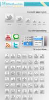 54 Social Media Icons Elegant