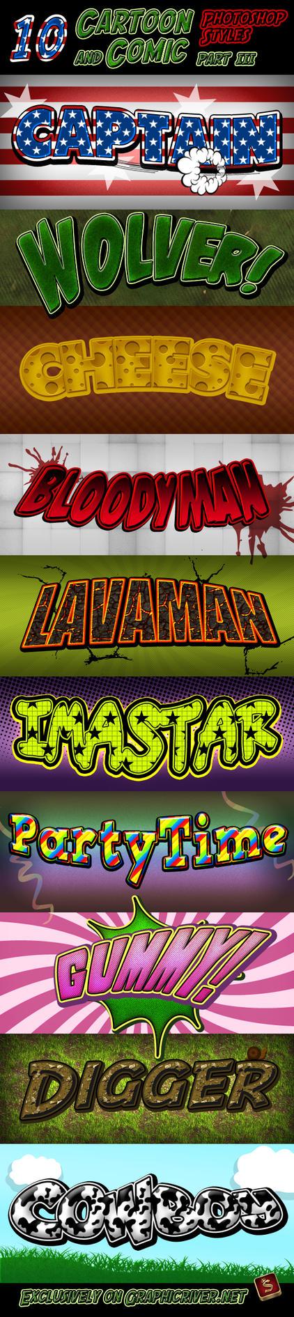 Cartoon + Comic Book Styles 3 by survivorcz