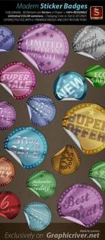 Modern Web Sticker Badges by survivorcz