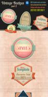 Retro Vintage Badges - part 2 by survivorcz