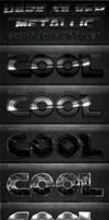Dark Silver Metallic Photoshop Styles