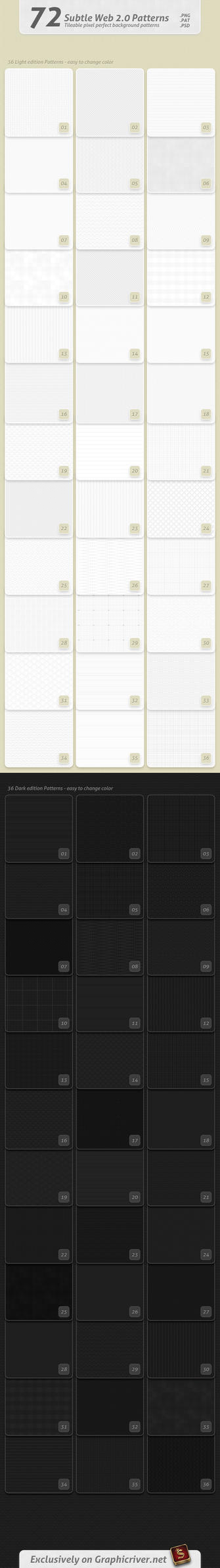 Subtle Web 2.0 Patterns by survivorcz