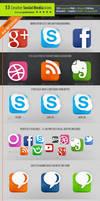 53 Social Media Icons - Creative edition
