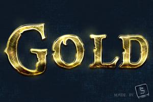 Free Gold Text Effect - Photoshop Tutorial by survivorcz