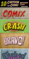 Cartoon and Comic Book Photoshop Styles - part 6 by survivorcz