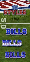 NFL Football Photoshop Styles - AFC East