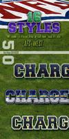 NFL Football Photoshop Styles - AFC West