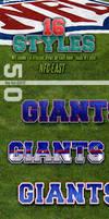 NFL Football Photoshop Styles - NFC East