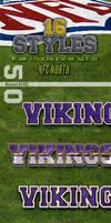 NFL Football Photoshop Styles - NFC North