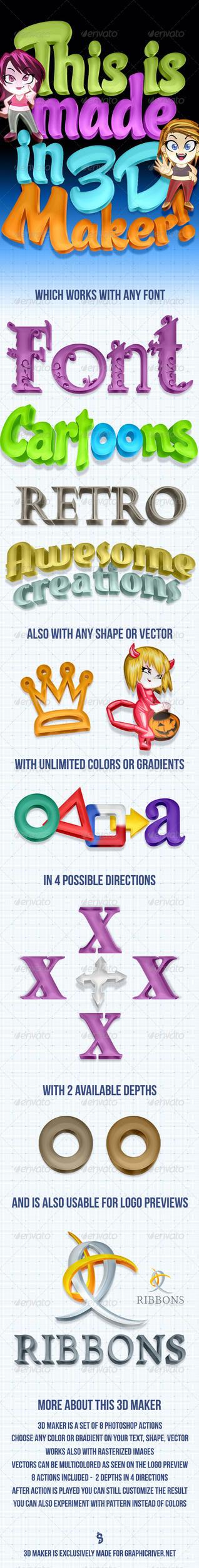 Colorful 3D Maker - Photoshop Actions by survivorcz