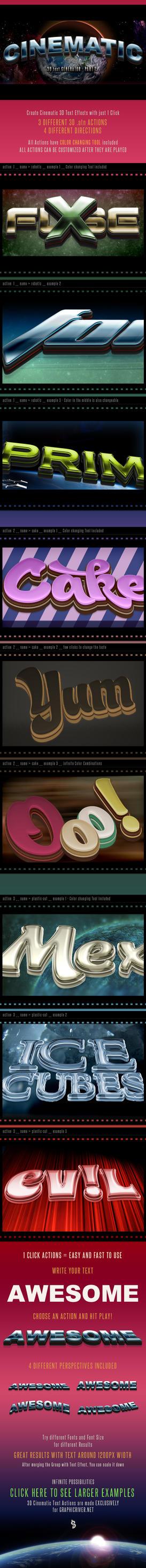 3D Cinematic Text Actions for Photoshop - Part 2 by survivorcz