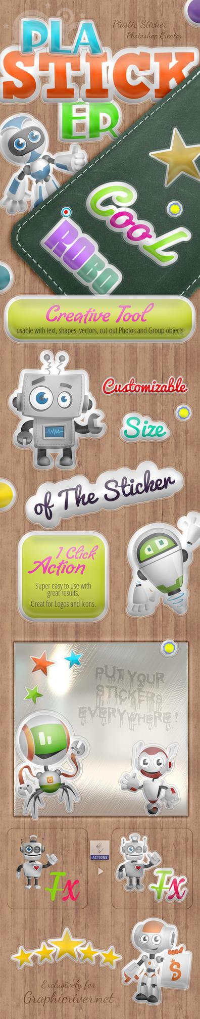 Plastic Sticker - Photoshop Actions by survivorcz