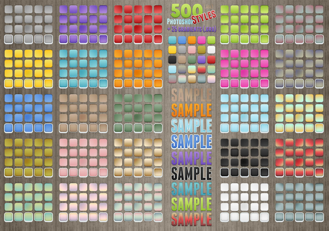 500 Photoshop Styles by survivorcz