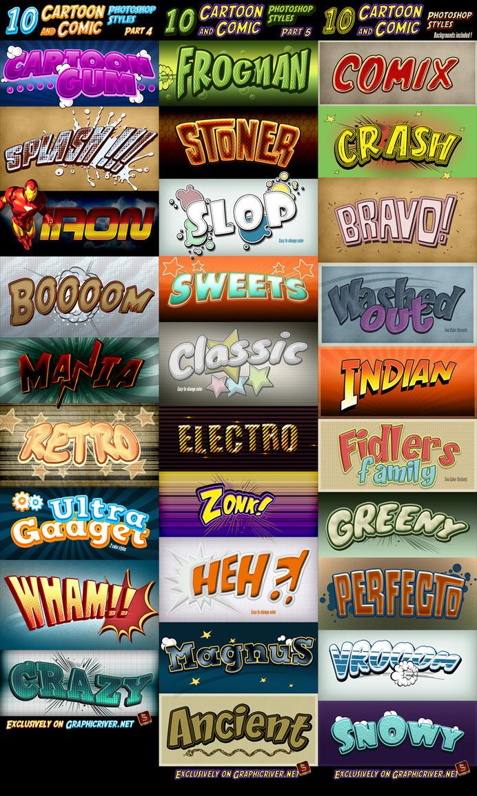 Cartoon and Comic Book Styles Bundle 2 by survivorcz