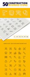 50 Construction Business Icons by survivorcz