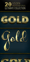 20 Gold Photoshop Styles - Ultimate Collection