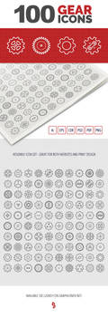 100 Gear Icons