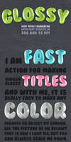 Glossy Text - Photoshop Action