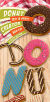 Donut Creator - Text and Shape Photoshop Action