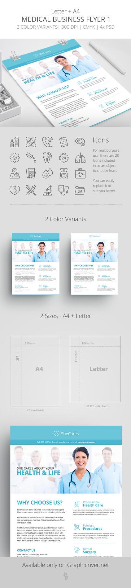 Medical Business Flyer Template 1 by survivorcz