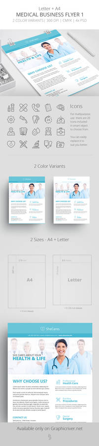 Medical Business Flyer Template 1