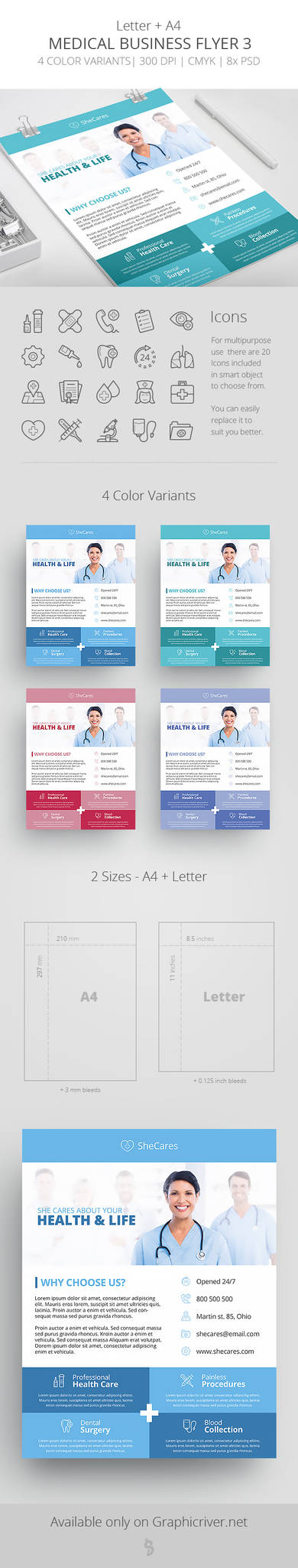 Medical Business Flyer Template 3