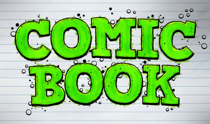 Free Comic Book Text Effect Tutorial - Photoshop by survivorcz