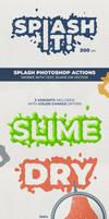 Splash Text Photoshop Actions - 300 DPI
