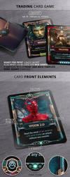 Superhero VS. Villains - TCG card template by survivorcz