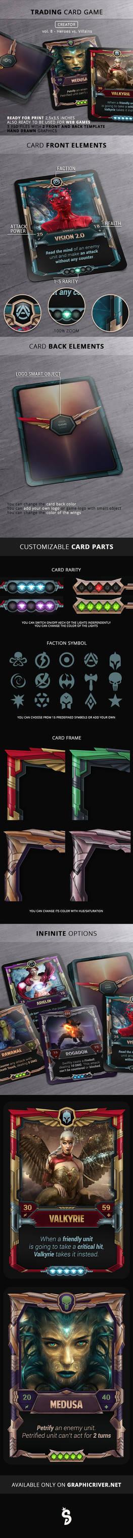 Superhero VS. Villains - TCG card template
