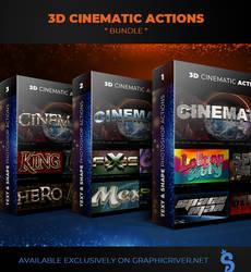 3D Cinematic Photoshop Actions - Bundle