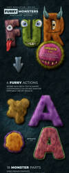Furry Monster Actions - 300 DPI by survivorcz