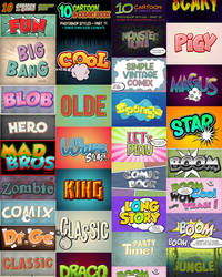 Cartoon and Comic Book Styles Bundle 4