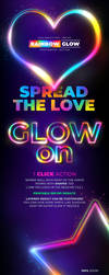 Rainbow Glow Text and Shapes - Photoshop Action by survivorcz