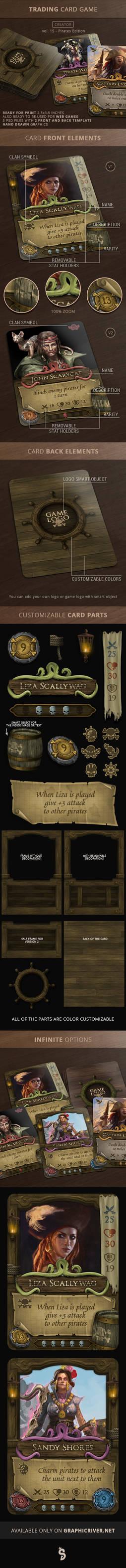 Trading Card Game (TCG) Creator - 15 - Pirates