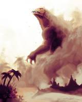 Godzilla by dwayne-bruce