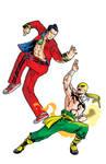 Iron Fist vs Shang Chi col