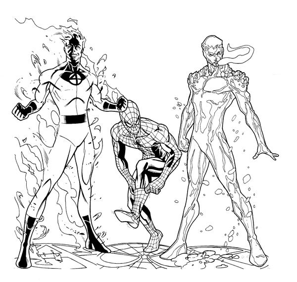 Spidey and Friends inks by sean-izaakse