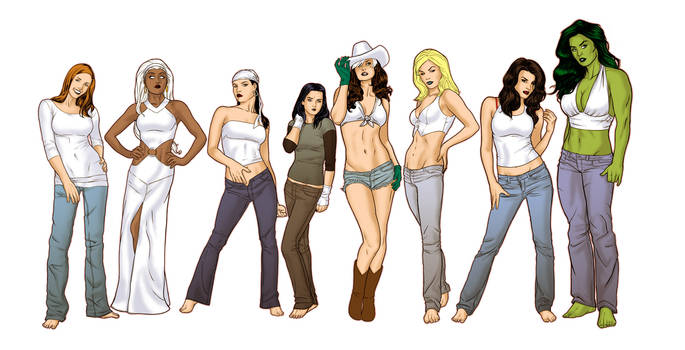 Women of Marvel colour by sean-izaakse