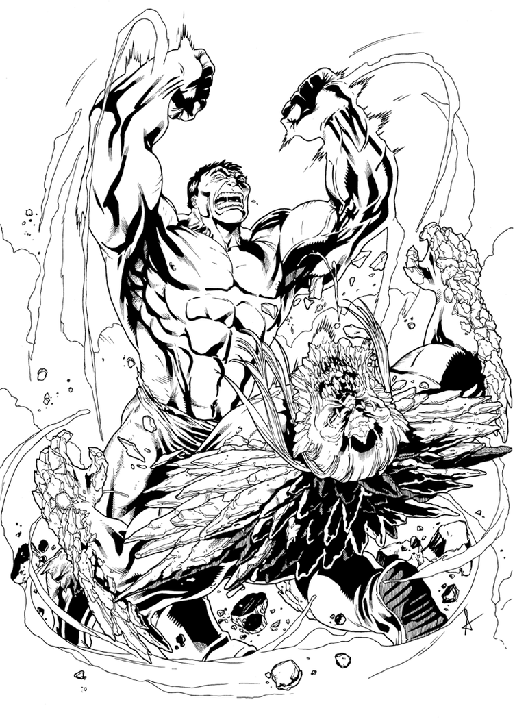 hulk vs superman coloring pages - photo#20