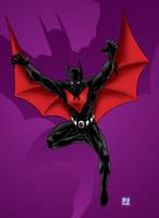Batman Beyond colour by sean-izaakse