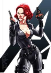 Avengers Movie Black Widow by sean-izaakse
