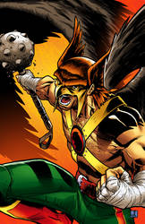 Classic Hawkman colour by sean-izaakse